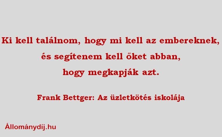 Állománydíj - Frank Bettger